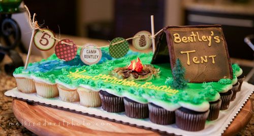 Camping Theme camping and nature themed first birthday party