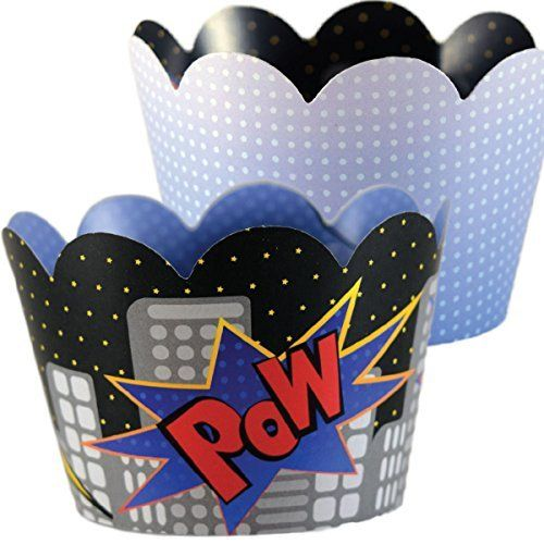 Superhero, Comic Book Royal Blue Cupcake Wrapper Decorations, Confetti Couture Party Supplies, 36, http://www.amazon.com/dp/B01IBZ9CBS/ref=cm_sw_r_pi_n_awdm_eEAKxbNEP1584