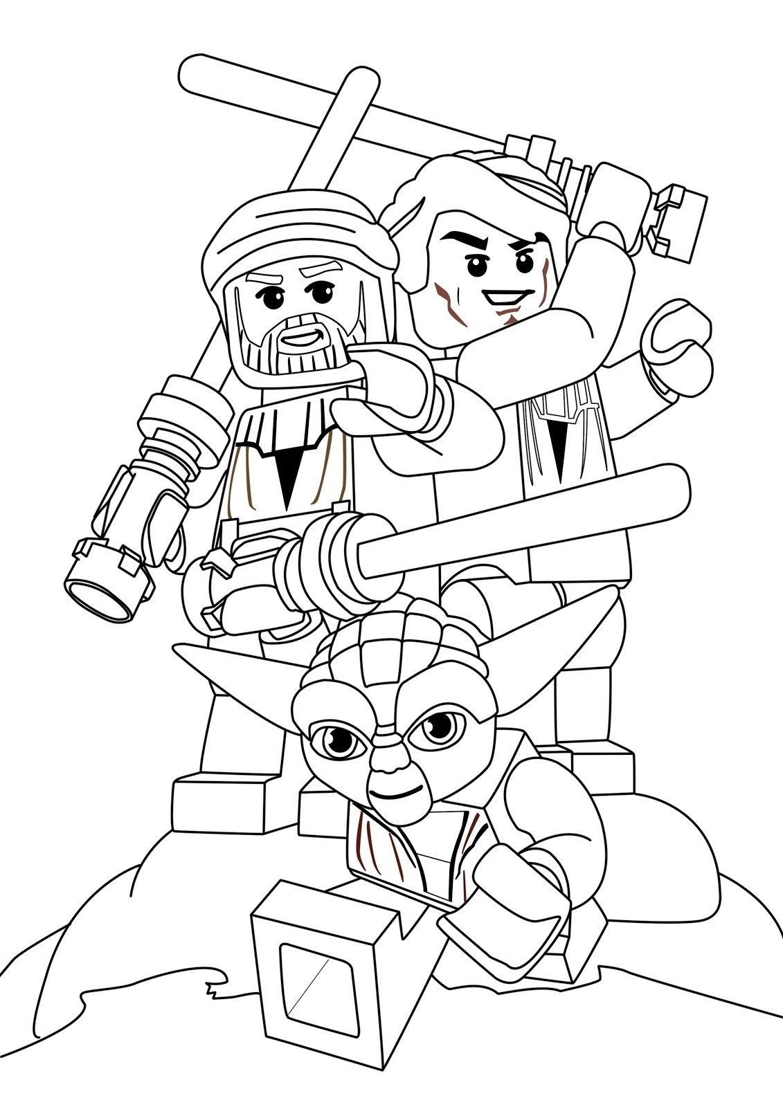 Lego Yoda - Star Wars Coloring Pages | littles [activities ...