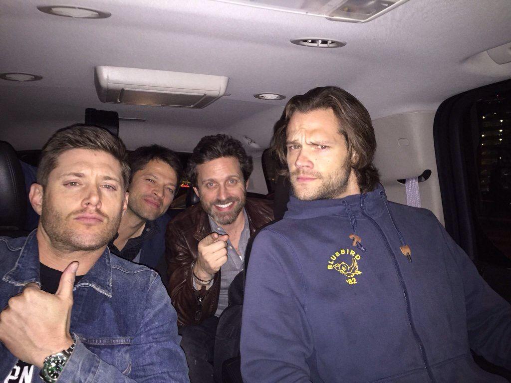 Supernatural: Jensen Ackles, Misha Collins, Rob Benedict and Jared Padalecki