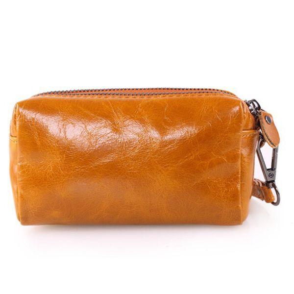 21 19 42 Women Men Genuine Leather Clutches Bag Cow