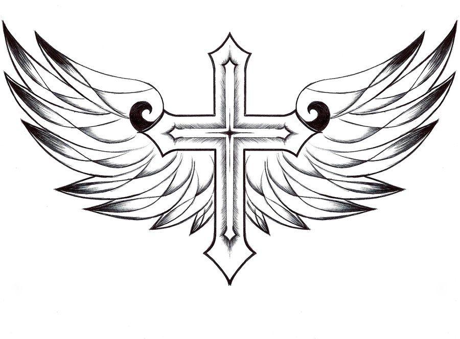 Cross And Wings By Foiespoiramour D62ydns Jpg 900 664 Tatuagem Do Neymar Cruz Com Asas Tatuagem Bracelete Masculino