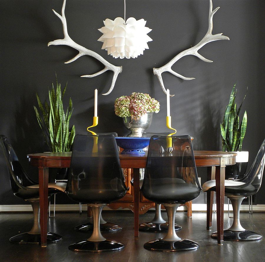 25 Elegant And Exquisite Gray Dining Room Ideas  Eclectic Dining Adorable Dark Grey Dining Room Inspiration Design