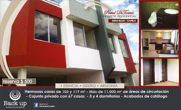 PORTAL DI TORINO: Hermosas #casas de 103 y 119 m² en el #ValledelosChillos http://ecuador.inmobilia.com/es/detalleProyecto/16121-PortalDiTorino #InmobiliaEcuador #Quito