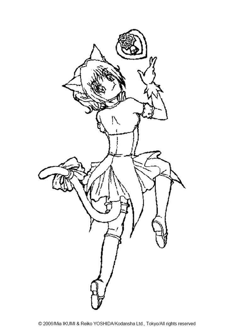 Ichigo Momomiya coloring page. More Tokyo Mew Mew coloring pages on ...