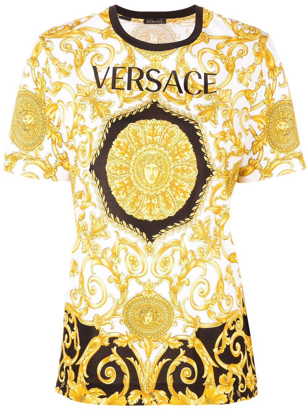 Versace printed T shirt Black | Versace t shirt, Versace