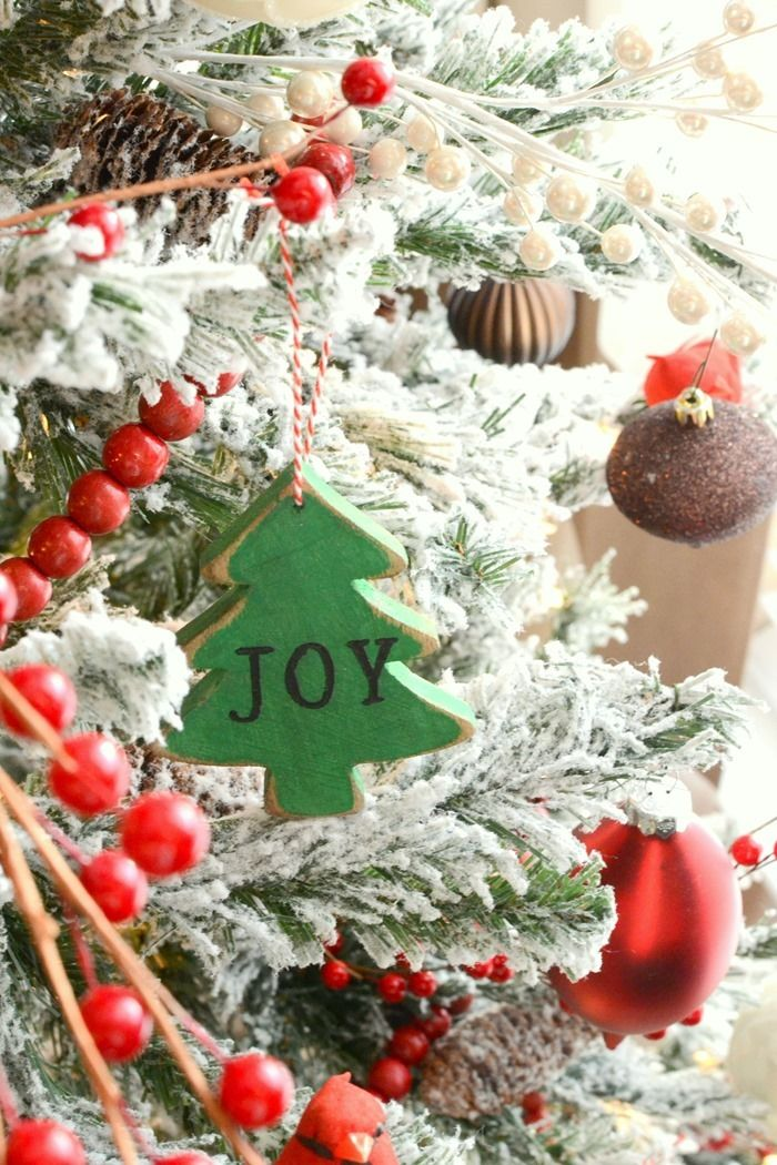 DIY Chalky Finish Painted Wood Christmas Ornaments Frugal - christmas decorations diy