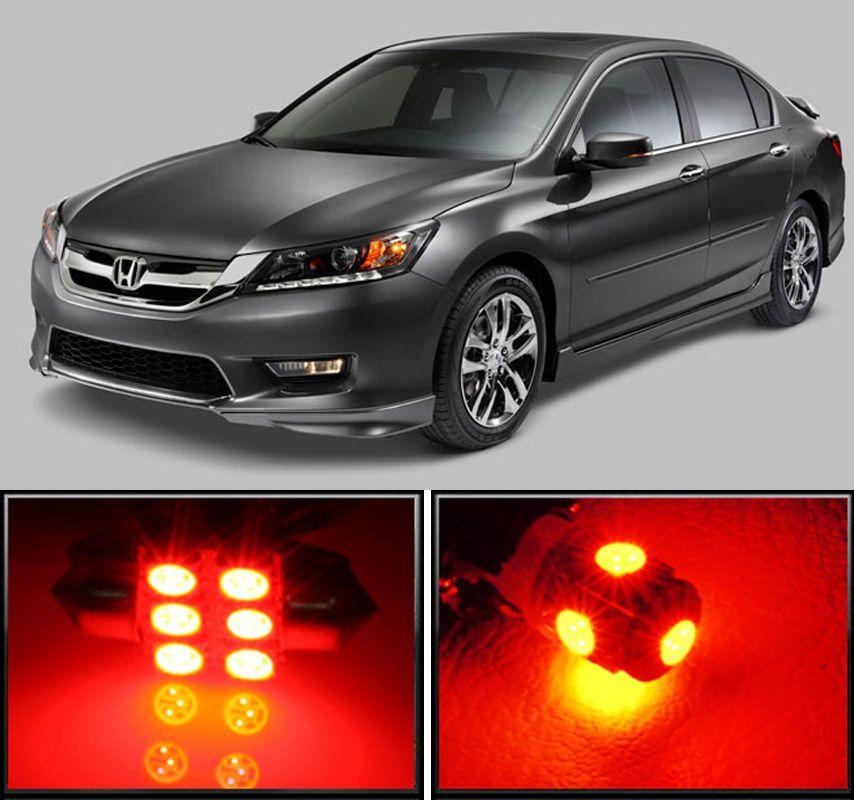 RED PREMIUM HONDA S2000 FULL INTERIOR CAR LED LIGHTS BULB KIT