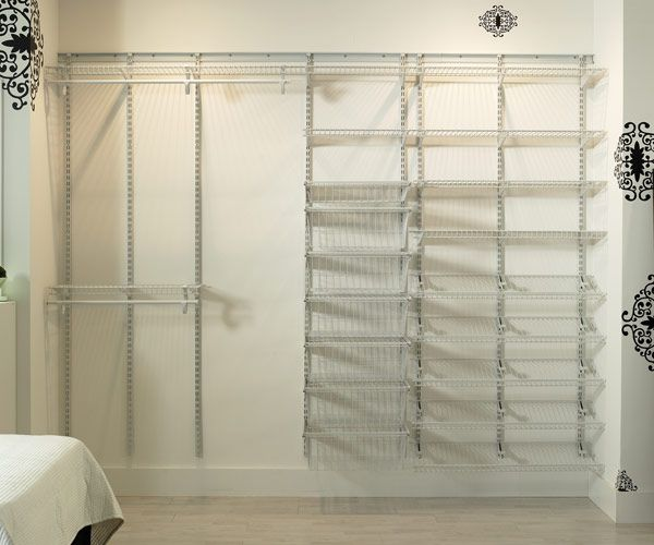 Closetmaid Design Ideas closetmaid selectives 16 in white custom closet organizer 7032 the home depot 30 Genius Tips For Your Most Organized Closet Ever