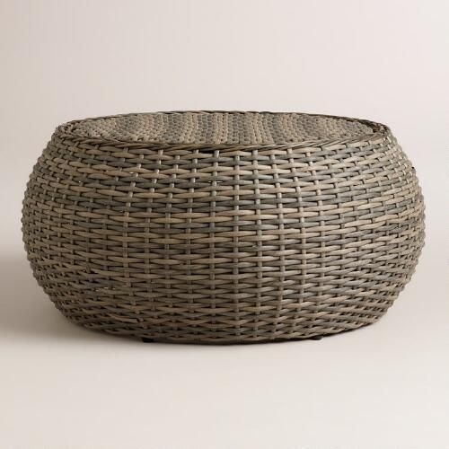 One of my favorite discoveries at WorldMarket.com: All-Weather Wicker Formentera Egg Coffee Table