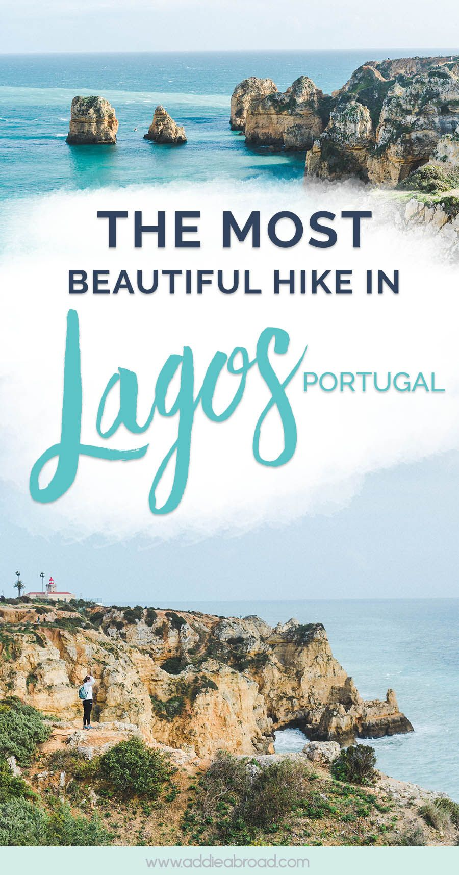 How to Hike the Lagos Cliffs and See the Best Beaches in Lagos #traveltoportugal