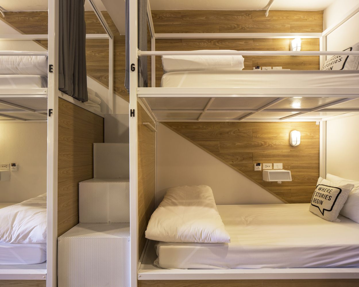 gallery of bed one block hostel / a millimetre - 11 | shared rooms