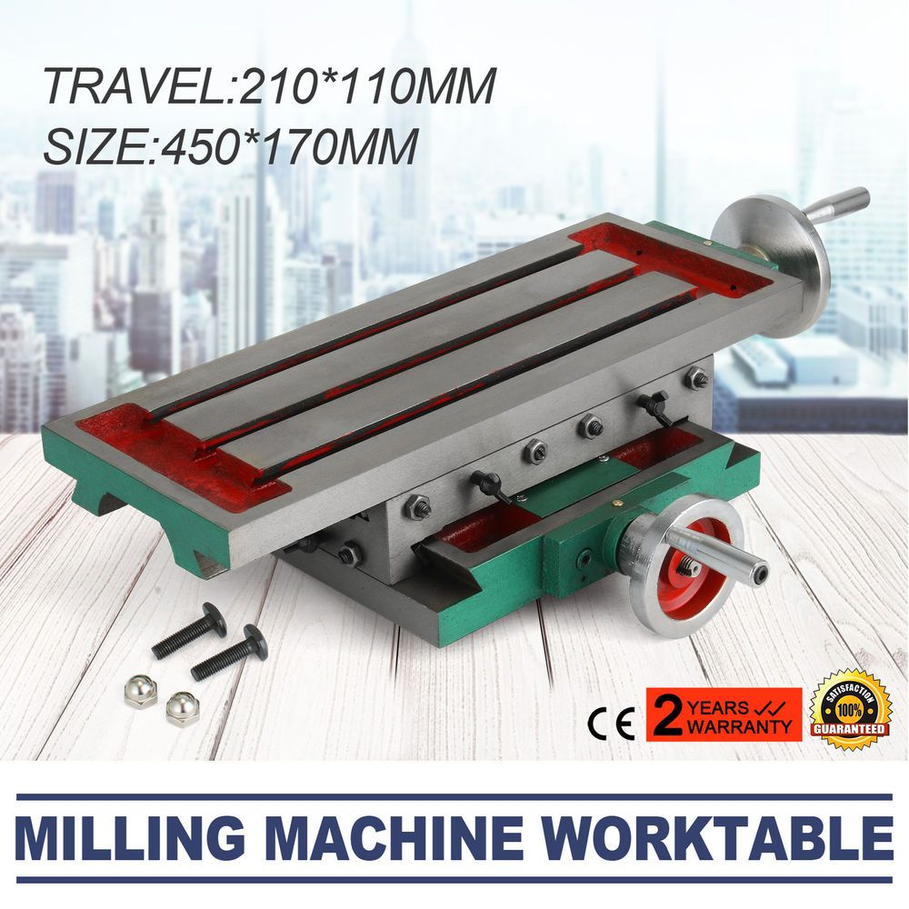 Milling Machine Compound Work Table Cross Slide Bench Drill Press Vise Fixture Milling Machine Milling Table Work Table