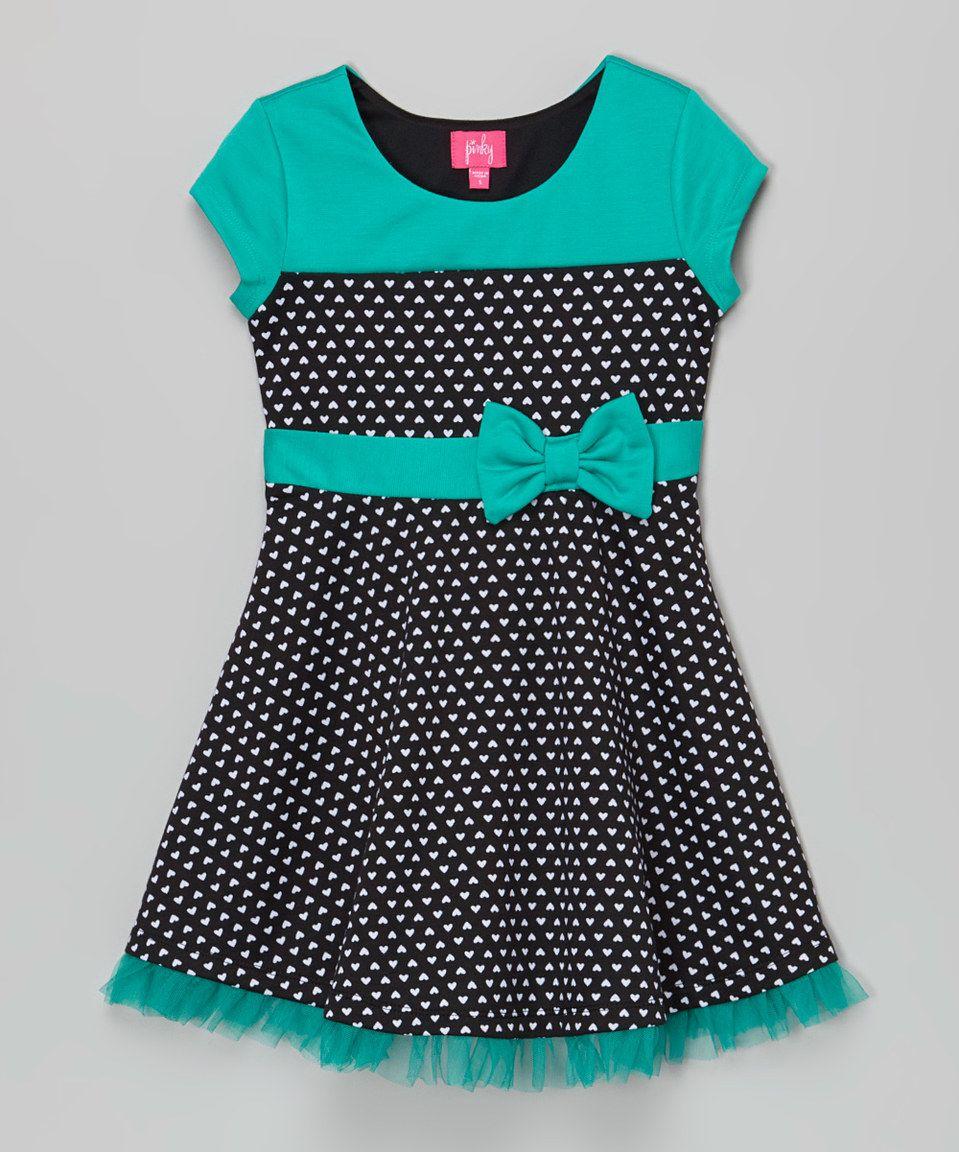 Another great find on zulily zunie u pinky teal u black bow dress