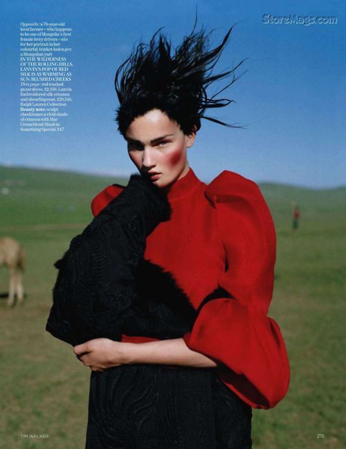 KIRSI PYRHONEN by Tim Walker for Vogue UK