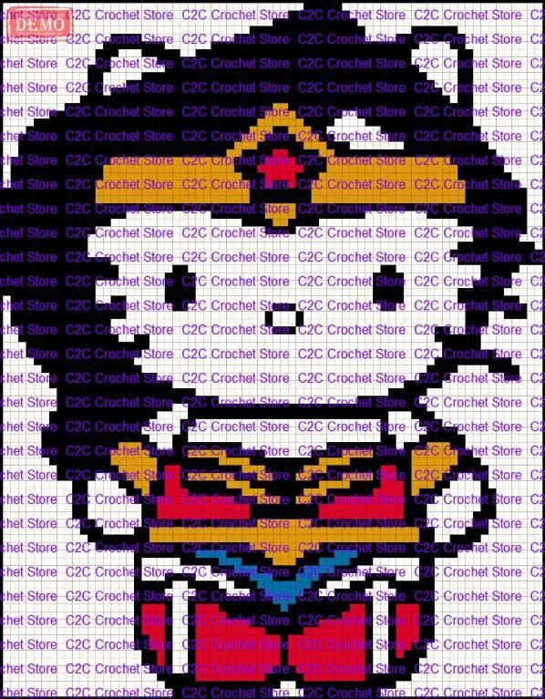 C2C Hello Kitty WonderWoman graph patter