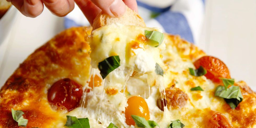 Best Baked Three-Cheese Dip Recipe - How to Make Baked Three-Cheese Dip