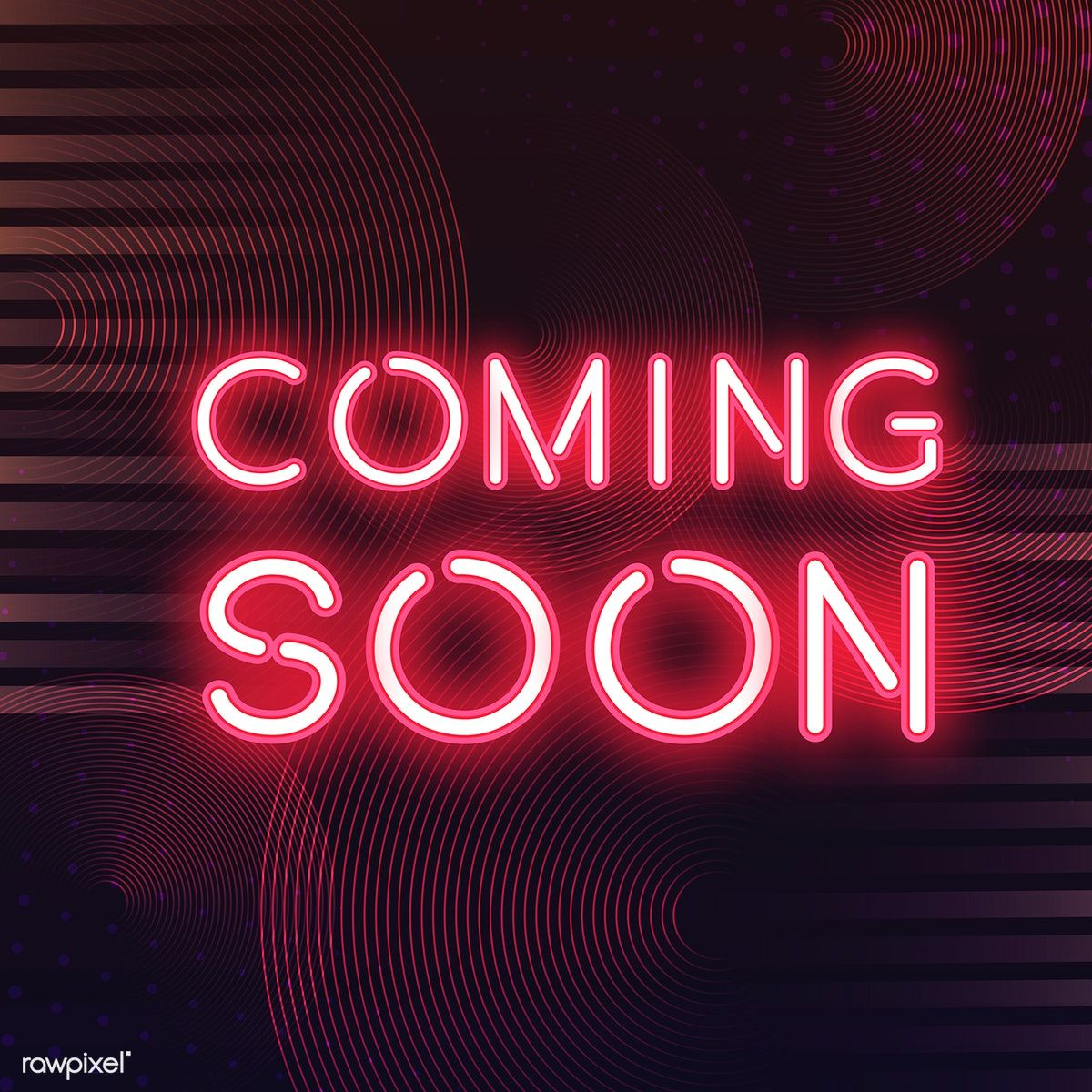 Download premium vector of Red coming soon neon icon