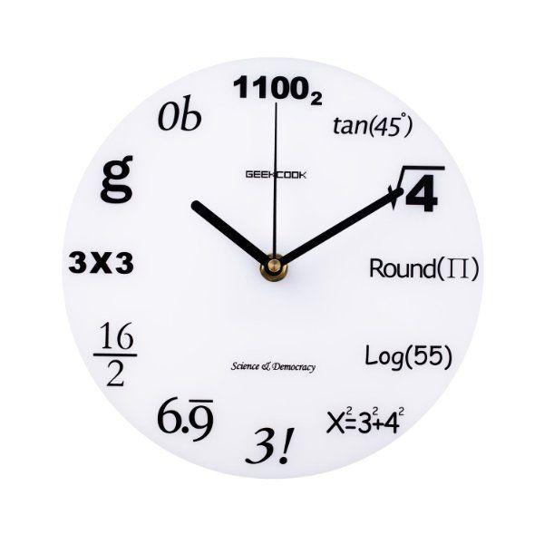 Geekcook Math Nerd Math Symbols Acylic Decorative Wall Clock 827