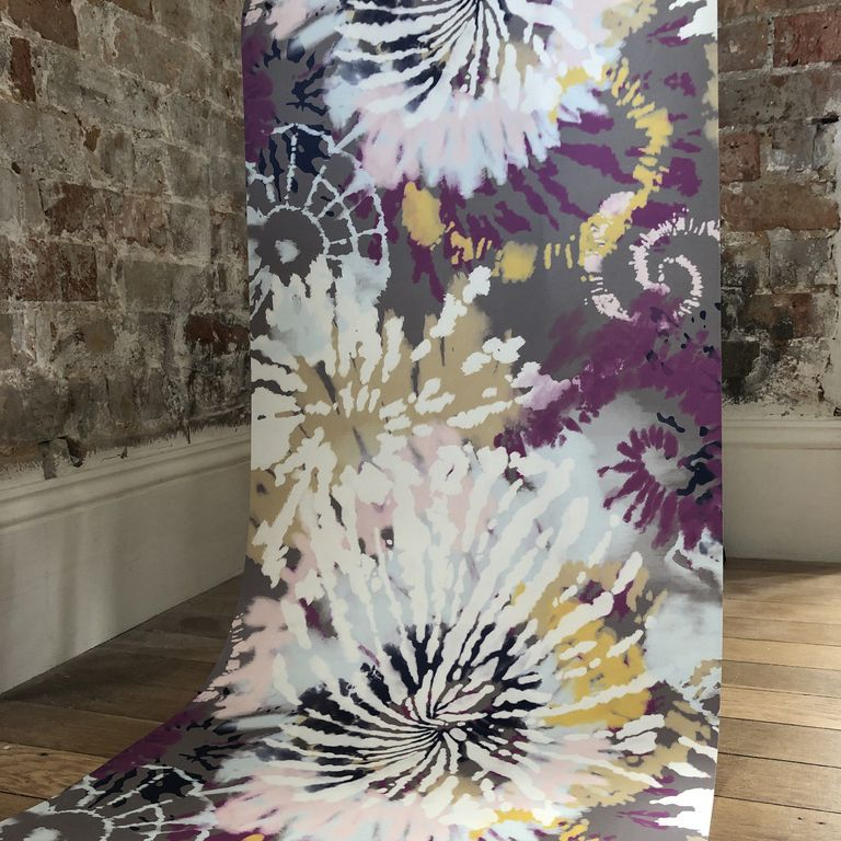 Inspired by the Catwalk, 'Dream' is a colourful tie dye print, that gives you a sense of freedom. This print will give your room a gorgeous blast of colour. Available across other Home and Fashion products. Compliments with 'Simply' and clashes nicely with 'Grassed' and 'Magic'. #tiedye #tiedyefashion #wallpaperdecor #wallpaperideas #interiordesign
