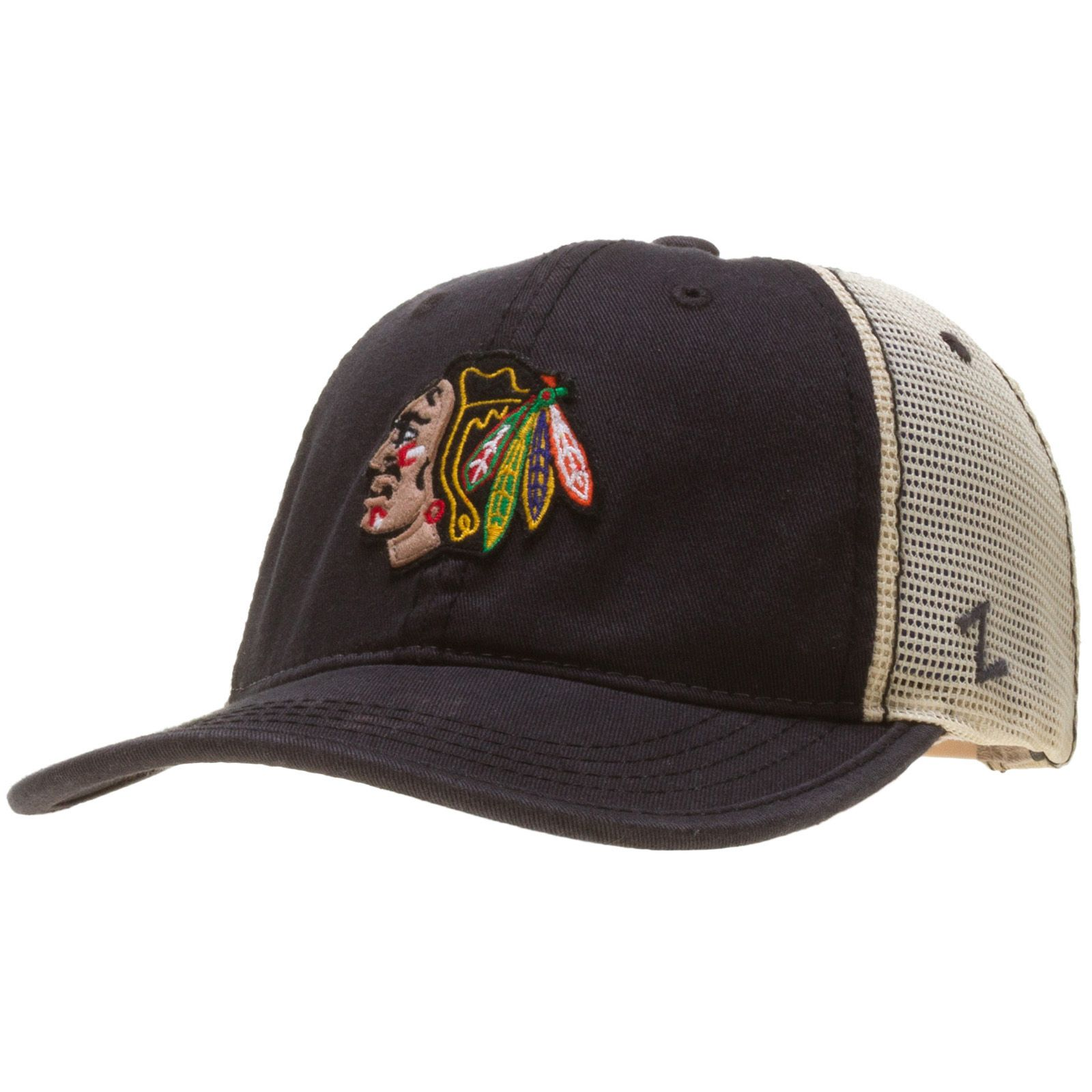 8e754053114414 Chicago Blackhawks Stone Mesh Relaxed Wash Adjustable Hat #Chicago # Blackhawks #ChicagoBlackhawks
