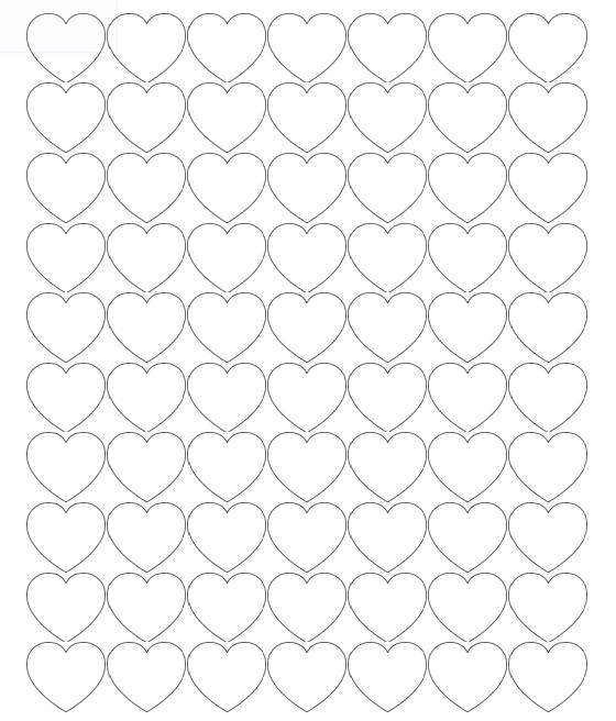Printable Heart Shapes Tiny Small Medium Outlines I Heart