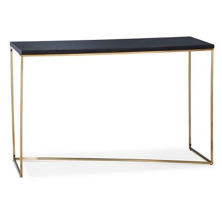 Sollerod Console Table Brass and Black Project 62 Console