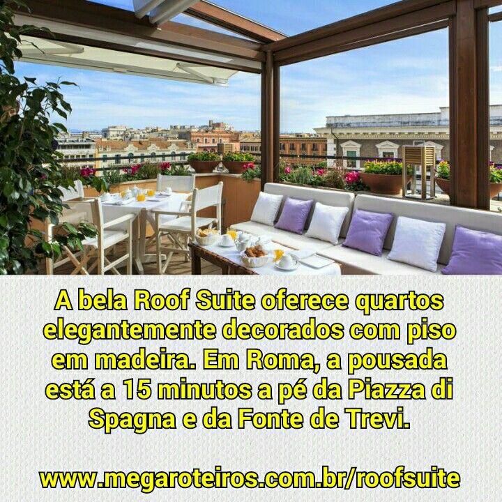A bela Roof Suite oferece quartos elegantemente decorados com piso em madeira. Em Roma, a pousada está a 15 minutos a pé da Piazza di Spagna e da Fonte de Trevi.  www.megaroteiros.com.br/roofsuite