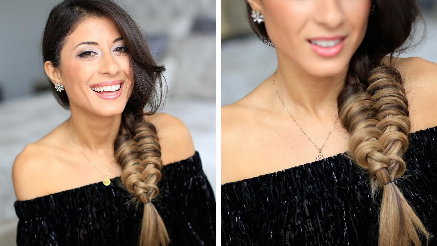 Coiffure Cheveux Long De Tous Les Jours Loop Braid Side Braid Cute Hairstyle Long Hair Tresse