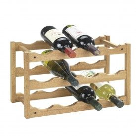 Rack à vin empilable en bois de noyer pour 12 bouteilles | Garage ...