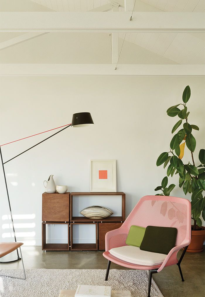 New Zealand Living Area With A Ronan And Erwan Bouroullec For Vitra Chair Floor Lamp