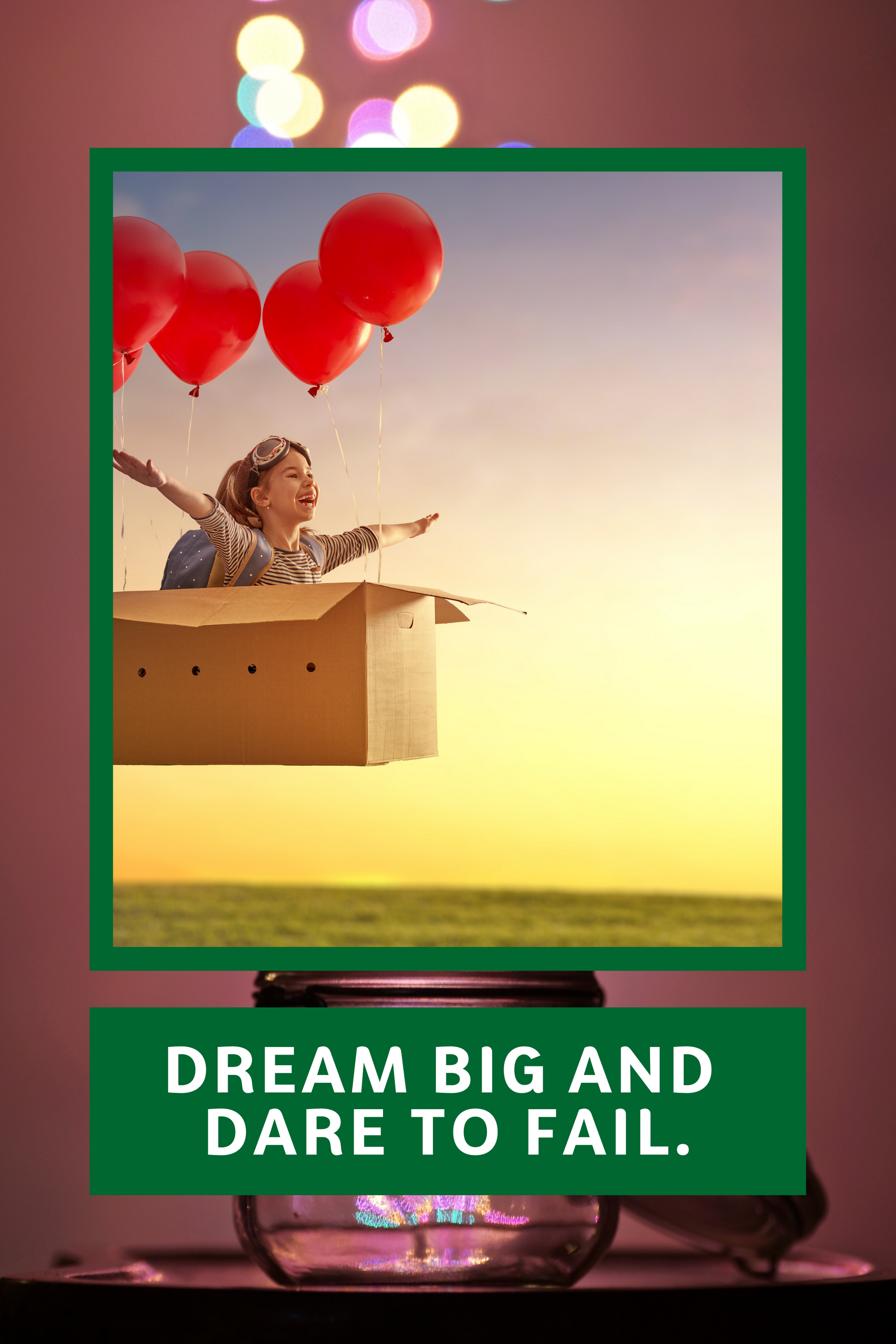 If you are going to dream, dream big! Believe that you can achieve it if you put your heart on it an...