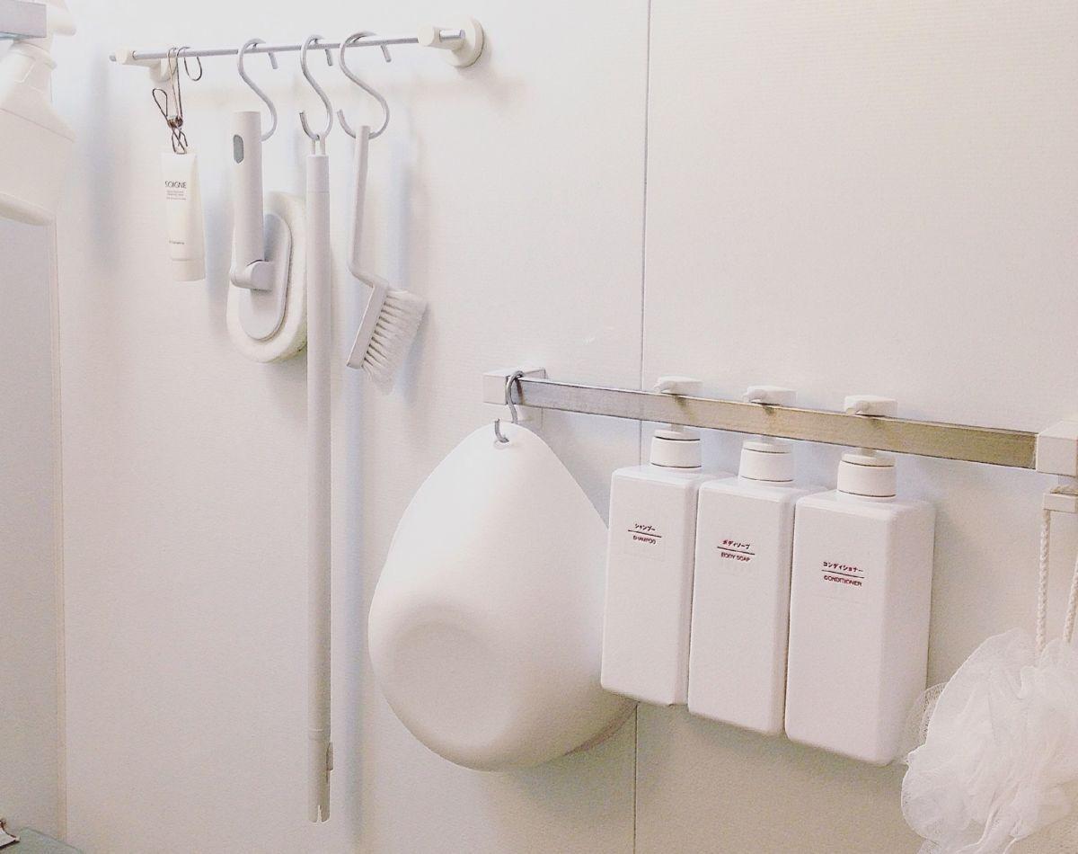 バスルームの収納を赤裸々に公開 ニトリ 100均活用で 徹底的に