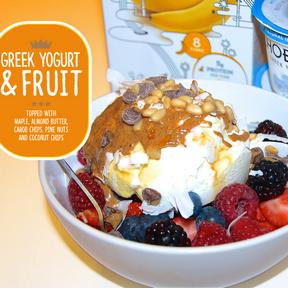 Greek Yogurt, Fruit & Maple