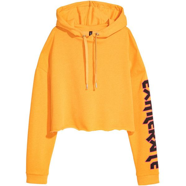 dd99ab027cd Short Hooded Sweatshirt $24.99 ($25) ❤ liked on Polyvore featuring tops,  hoodies, h&m hoodies, h&m tops, ribbed top, hooded pullover and hoodie top