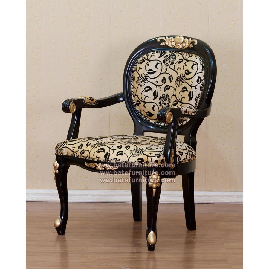 Buy French Black Gold Armchair | Mahogany Antique Furniture | Indonesia  Furniture