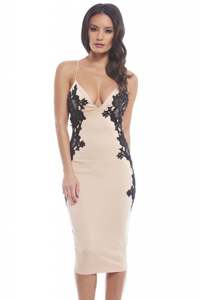 AX PARIS Lace Pencil Dress   Nudevotion.com