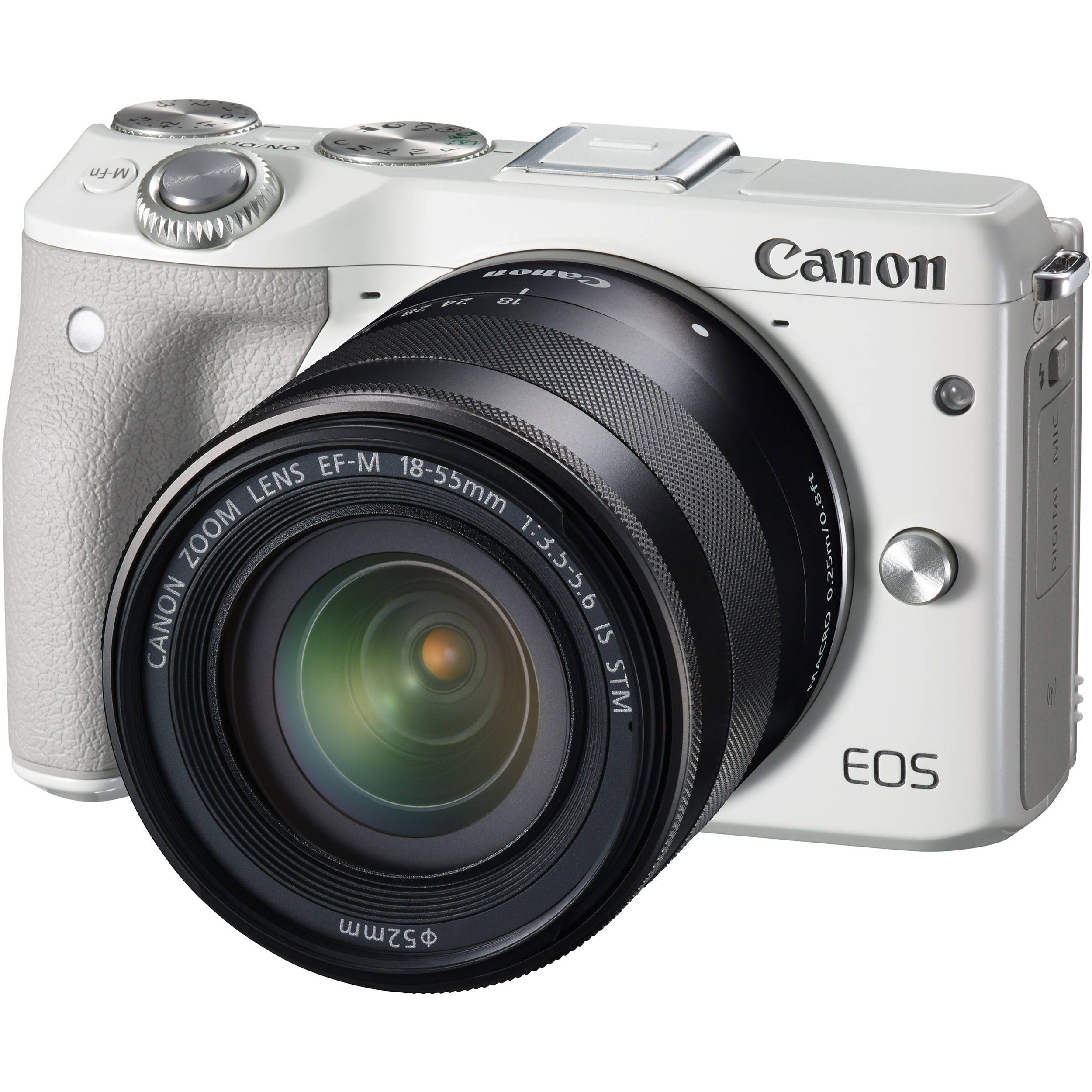 Canon EOS M3 Mirrorless Digital Camera with 18-55mm Lens (White)