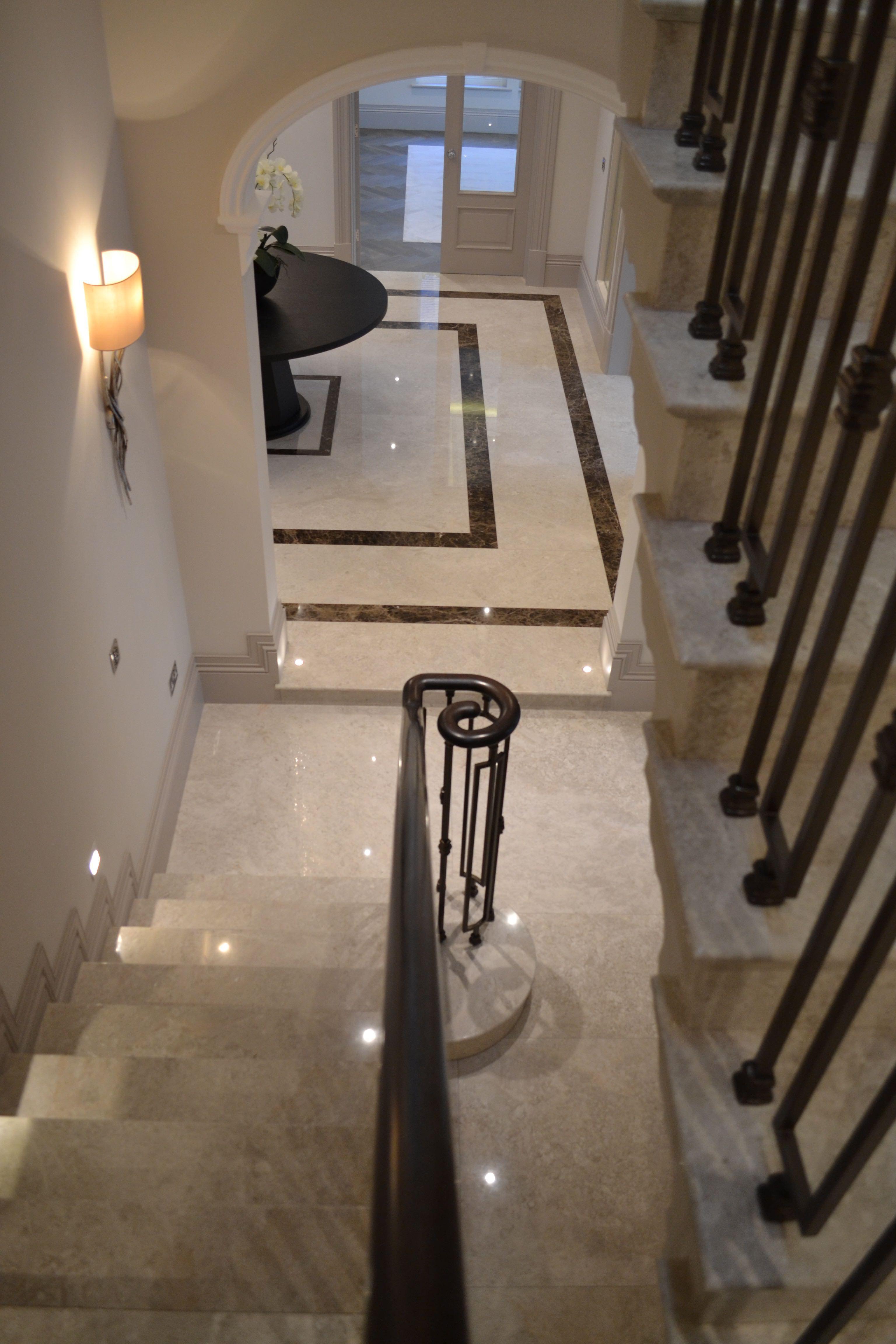 Limestone Floor And Stair Restoration Services Surrey Sussex
