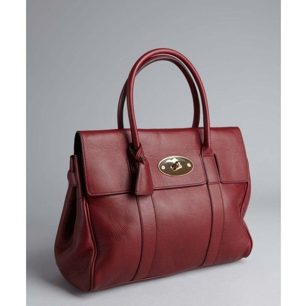 1301def4be Mulberry Oxblood Leather  bayswater  Medium Satchel found on Polyvore