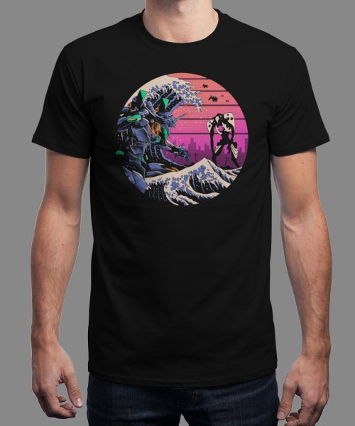 """Retro Wave Eva"" is today's £9/€11/$12 tee for 24 hours only on Pin this… 