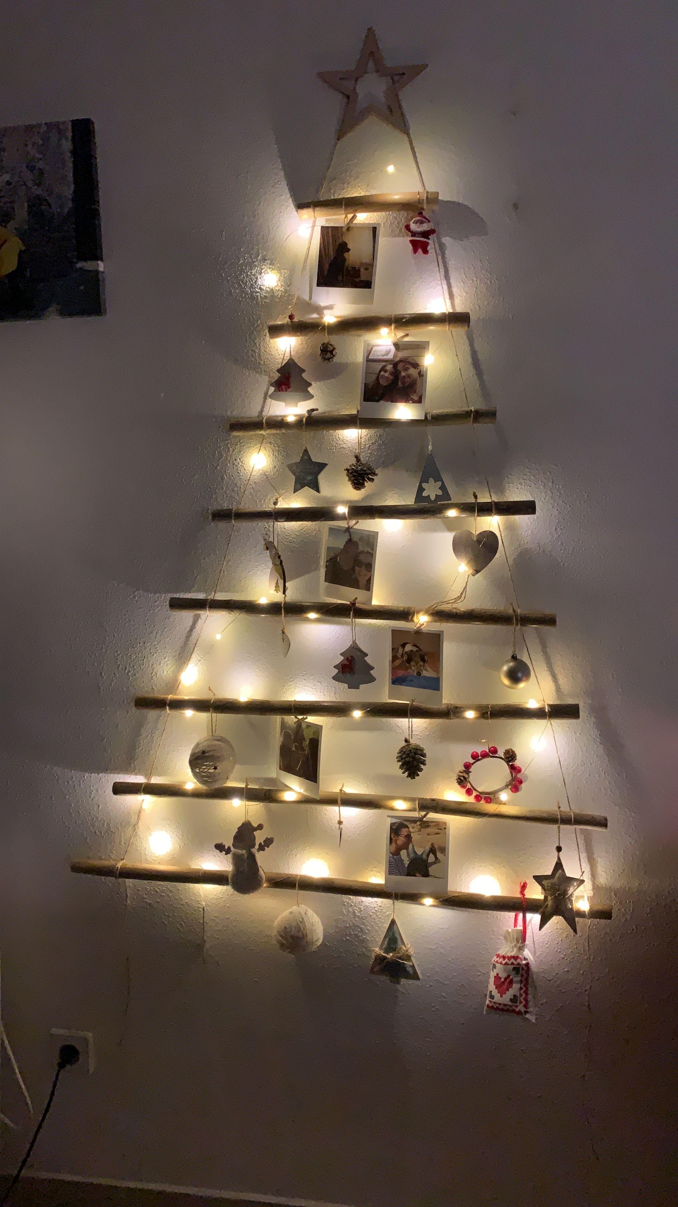 Arbol Navidad Hecho Con Canas Arbol De Navidad