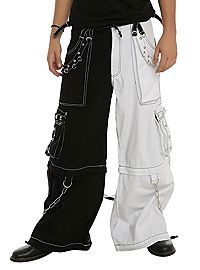 687bc3cead HOTTOPIC.COM - Tripp White   Black Split Leg Grommet Stud Pants ...