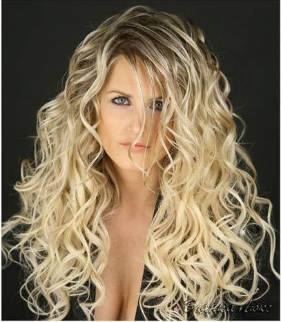 Dauerwelle lange haare blond