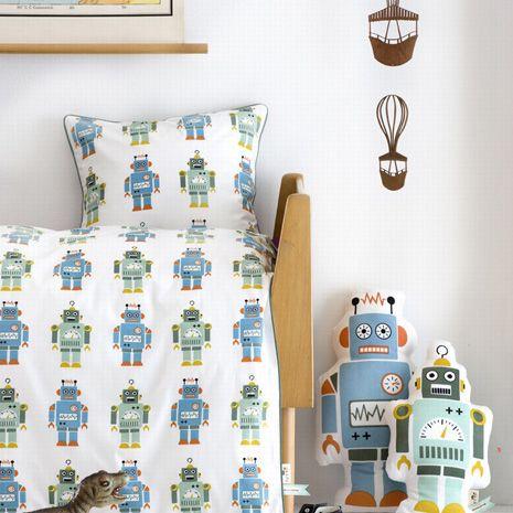 Funda n rdica robot ni os ropa de cama decoracion for Fundas nordicas para ninos