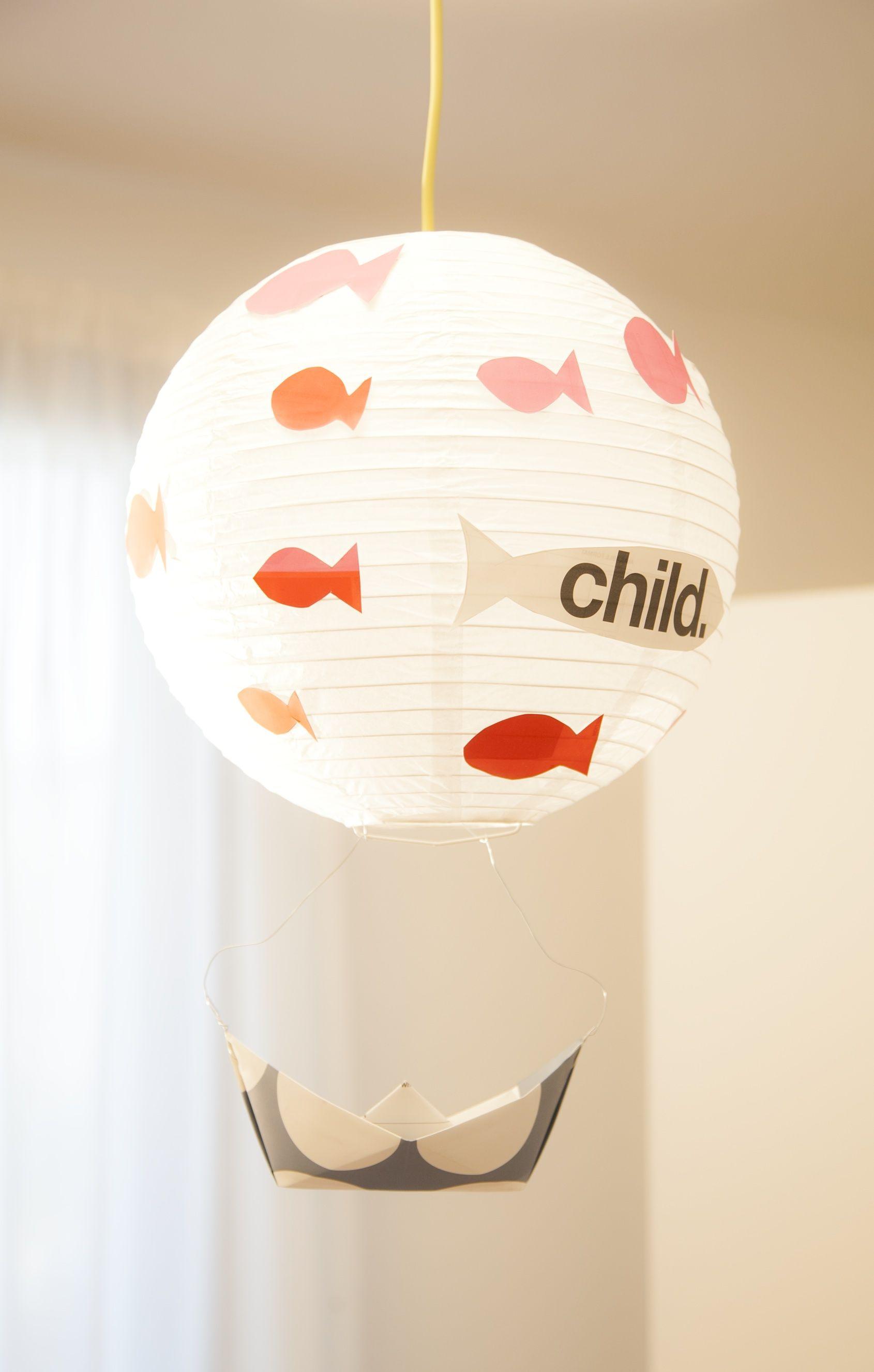 Lampadario personalizzabile realizzato con origami su - Ikea lampadario bambini ...