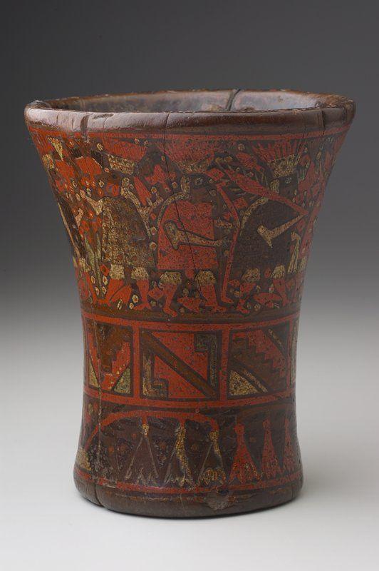 Kero Artist Unknown Inka Inca Peru South America C 1470