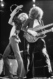Robert Plant  Jimmy Page Led Zeppelin 1975