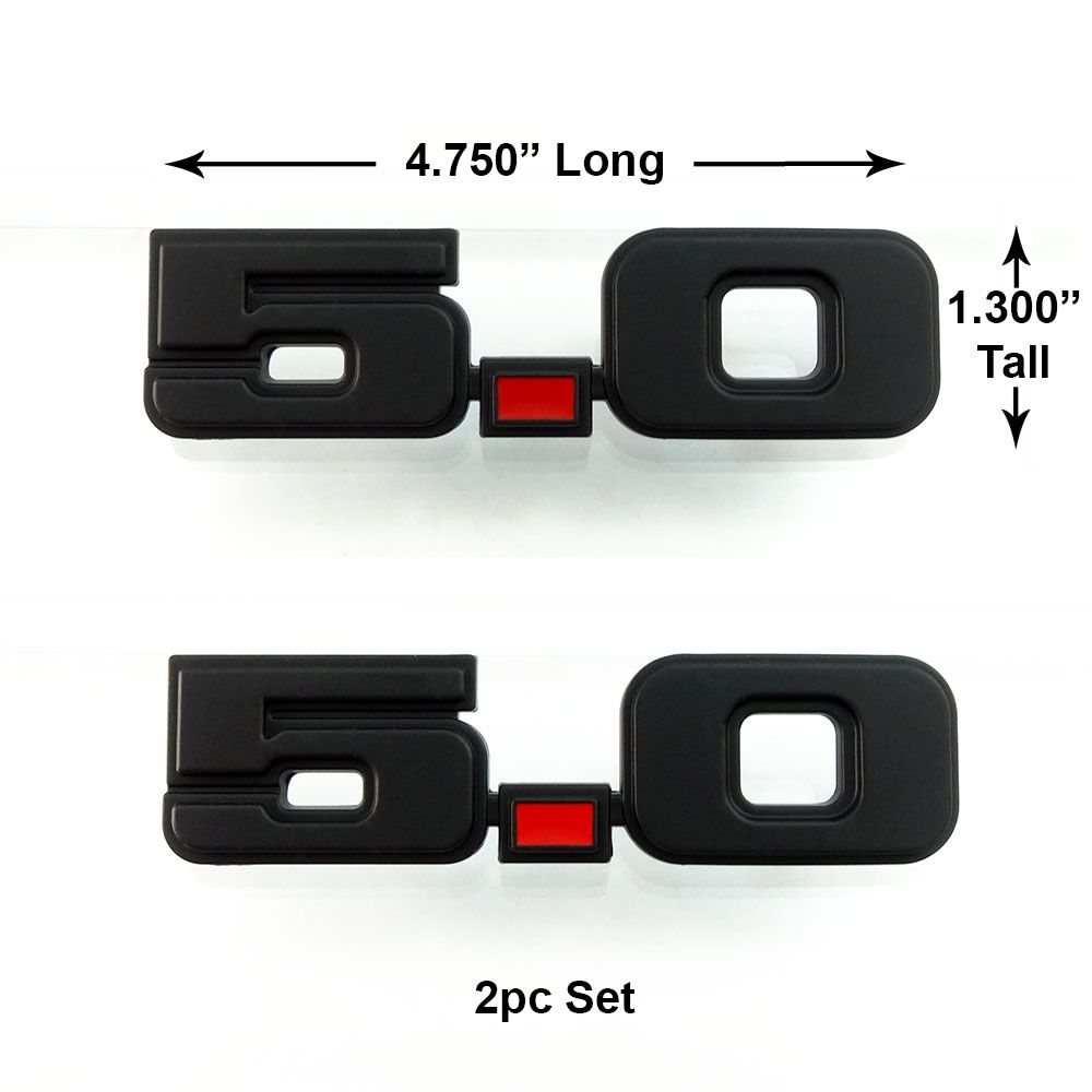 Give Your 79 93 Ford Mustang 5 0 The Stealth Look With These Flat Black 5 0 Emblems Sold In Pairs And Comes With 3 Fox Body Mustang Ford Mustang Parts Mustang