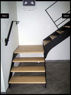 Escalier Metal Bois Home Pinterest
